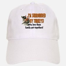 Surrounded by Turkeys Baseball Baseball Cap