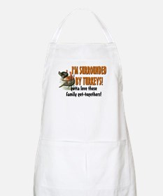 Surrounded by Turkeys BBQ Apron
