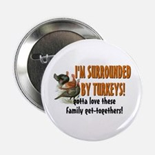 "Surrounded by Turkeys 2.25"" Button"