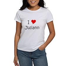 Unique I love juliann Tee