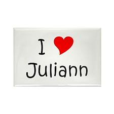 Cute I love juliann Rectangle Magnet