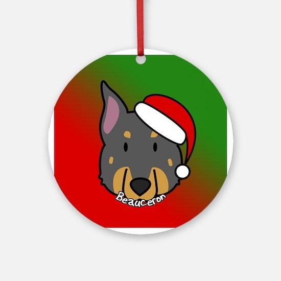 Cartoon Beauceron Christmas Ornament