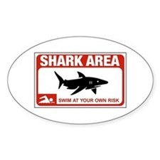 Shark Area (NY), USA Oval Decal