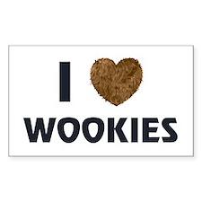 I Love Wookies Rectangle Sticker 10 pk)
