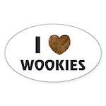 I Love Wookies Oval Sticker (50 pk)