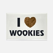 I Love Wookies Rectangle Magnet
