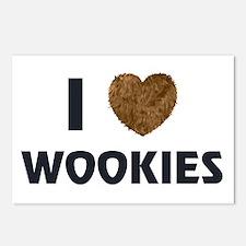 I Love Wookies Postcards (Package of 8)