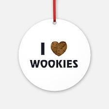 I Love Wookies Ornament (Round)
