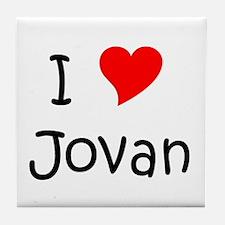 Cute I heart jovan Tile Coaster