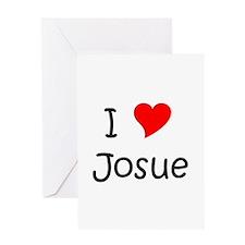 Unique I love josue Greeting Card