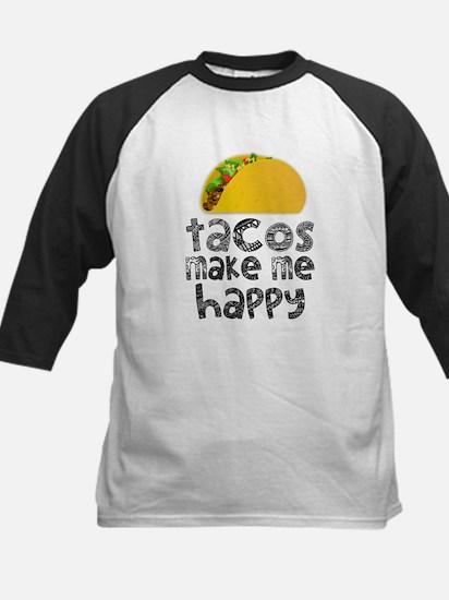 Tacos Make Me Happy Baseball Jersey