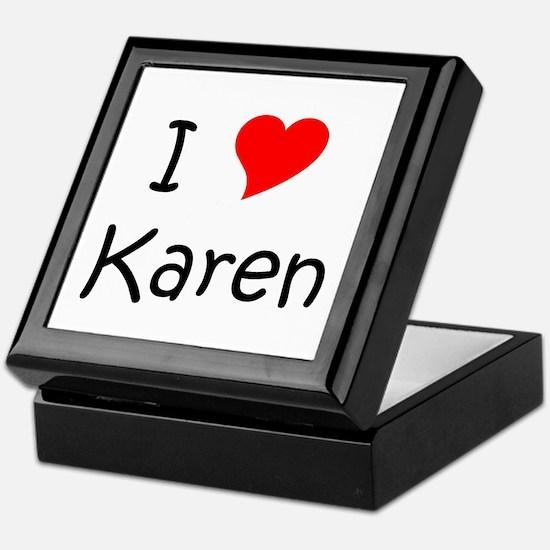 Unique Heart karen Keepsake Box