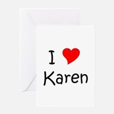 Cool Heart karen Greeting Card