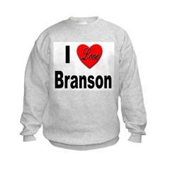 I Love Branson (Front) Sweatshirt