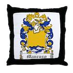Mancuso Family Crest Throw Pillow