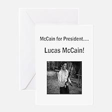 Lucas McCain for President Greeting Card