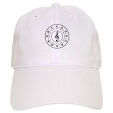 Grayscale Circle of Fifths Baseball Cap