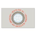 Universal HealthCare Stickers (Rect 50 pk)