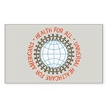 Universal HealthCare Stickers (Rect 10 pk)