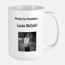 Lucas McCain for President Large Mug