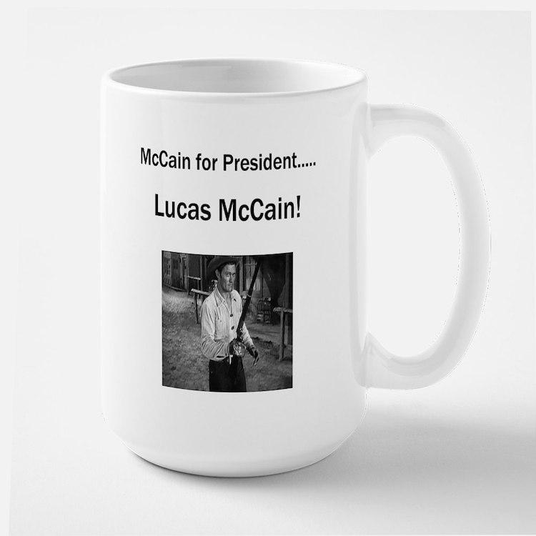Lucas McCain for President Large Mug
