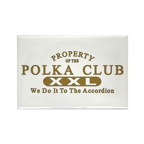 Polka Club Rectangle Magnet