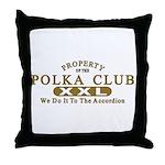 Polka Club Throw Pillow