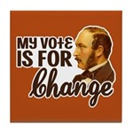 Vote Change Tile Drink Coaster