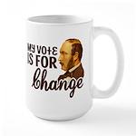 Vote Change Large Mug