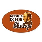 Vote Change Oval Stickers (10 pk)