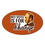 Vote Change Oval Bumper Sticker