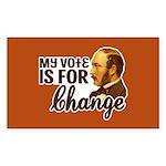 Vote Change Rectangle Sticker