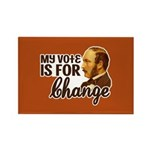 Vote Change Rectangle Magnet