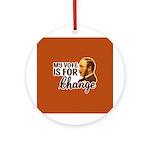 Vote Change Keepsake Ornament (Round)