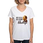 Vote Change Women's V-Neck T-Shirt