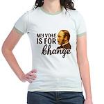 Vote Change Jr. Ringer T-Shirt