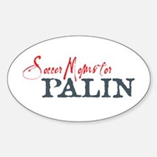 Palin Soccer 3 Oval Decal