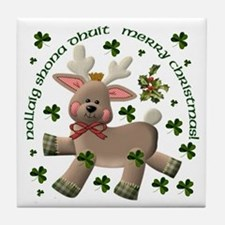 Reindeer (Irish/English Text) Ceramic Tile