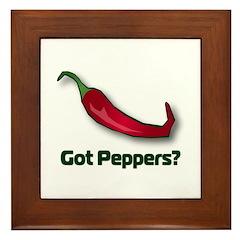 Got Peppers? Framed Tile