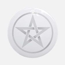 Silver Pentagram Ornament (Round)