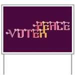 Peace Voter Yard Sign