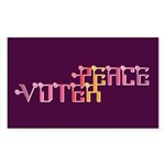 Peace Voter Stickers (Rect 10 pk)
