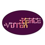 Peace Voter Oval Stickers (10 pk)