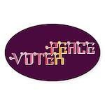 Peace Voter Oval Bumper Sticker