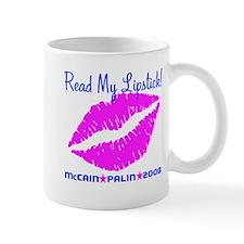 Read My Lipstick Palin Mug
