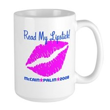 Read My Lipstick Palin Mug