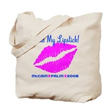 Read My Lipstick Palin Tote Bag