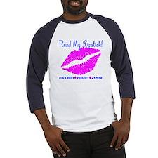 Read My Lipstick Palin Baseball Jersey