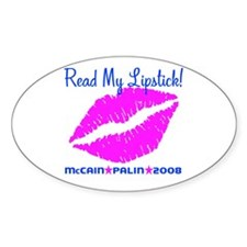 Read My Lipstick Palin Oval Decal