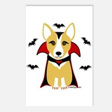 Count Corgi - Vampire Postcards (Package of 8)